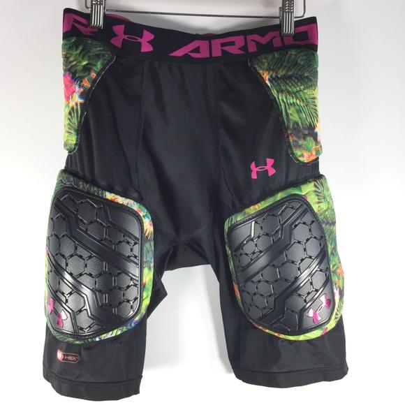 Favor pulgada Mirilla  Under Armour Shorts | Black Floral Padded Football Girdle L | Poshmark